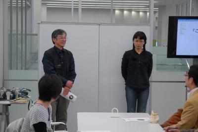 田中美穂さんと岡山コケの会の安斉さん