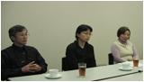 「苔とあるく」の著者田中美穂さん、岡山コケの会会員のお二人へのインタビューです